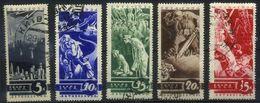 USSR 1935 Michel 494-498 Anti-War Propaganda. Used - Usados