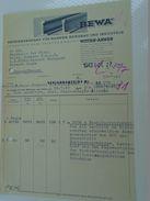 AD034.12  Hungary Old Invoice -Budapest -  BEWA Bahnen Bergbau -Versandzeige -- Gaswerk Obuda  1943 WWII - Facturas & Documentos Mercantiles