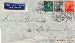 1937 Langebalk TJOMAL Op Luchtpostbrief Naar 's-Gravenhage - Indes Néerlandaises