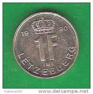 1  Franc  LUXEMBOURG   1990    (PRIX FIXE)    (EQ4) - Lussemburgo