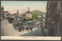Karlsbad, Marktplatz. Ansichtskarte Gelaufen In 1907, Nach Aschersleben. - República Checa