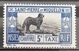 St. Pierre & Miquelon, 1932, Mi: 21 Taxe (MNH) - Cani