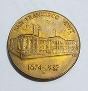 U.S.A. - TREASURY DEPARTMENT - San Francisco Mint (1874 - 1937) Bronze / 37mm - Professionali / Di Società