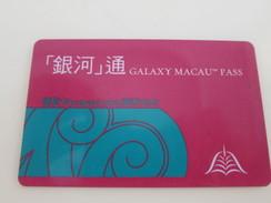 Galaxy Macau Pass,prepaid Card - Casino Cards