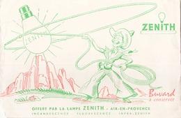 France Buvard Zénith ( Pliure ) 22 Cm X 14 Cm - Electricité & Gaz