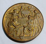 FRANCE - MEDAILLE De L' ECOLE Des BEAUX-ART De MARSEILLE - L. Bottée (XIX Siècle) Bronze / 50mm - Professionali / Di Società
