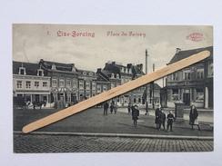 """LIZE-SERAING Nº8""""Place Du Pairay"""" Très Animée ,café J. L.Calmant,café Des 3 Billards L.Garot,Pharmacie Jean-Darra (1914) - Seraing"""