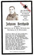 Sterbebild Gefreiter Johann Berthold 1943  ( 001181 ) - Militaria