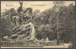Herford, Wittekind - Denkmal. Ansichtskarte Aus 1912 Mit Zugstempel Cöln (Rhein) - Hannover / Bahnpost Zug 19 - Herford