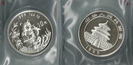 1996 CHINA - 10 YUAN - FDC - Panda - Argento / Argent / Silver 999 1oz Ag. - Confezione Originale - Cina