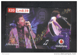 MALTA - VODAFONE  PHONECARD  20 EUROS ( LM8.59 ) USED - Malta