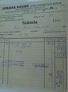 AD034.20  Hungary Old Invoice Juhasz Rezsö -socks Factory  1948 - Facturas & Documentos Mercantiles