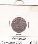 PORTOGALLO   10 CENTAVOS   ANNO 1920  COME DA FOTO - Portogallo