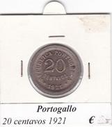 PORTOGALLO   20 CENTAVOS   ANNO 1921  COME DA FOTO - Portogallo