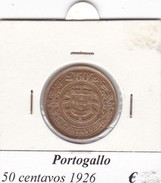 PORTOGALLO   50 CENTAVOS   ANNO 1926  COME DA FOTO - Portogallo