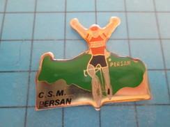 Pin615c Pin's Pins / SPORTS : CYCLISME CSM PERSAN Mais Pas Chat  ; Rare Et De Belle Qualité !!! - Ciclismo