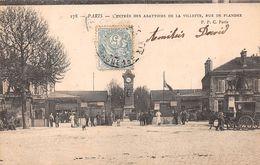 ¤¤  -  PARIS  -  L'Entrée Des Abattoirs De La Villette, Rue Des Flandres   -  ¤¤ - Arrondissement: 19