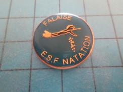 Pin615c Pin's Pins / SPORTS : NATATION CLUB ESF FALAISE CALVADOS NORMANDIE  ; Rare Et De Belle Qualité !!! - Swimming