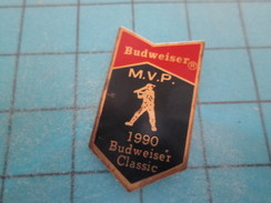Pin615c Pin's Pins / SPORTS : BASE-BALL BUDWEISER MVP 1990 BIERE AMERICAINE PISSE D'ANE  ; Rare Et De Belle Qualité !!! - Baseball