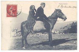 Cpa Types Corses, Couple, Cheval        (S.2189) - Non Classés