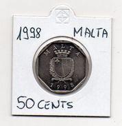 Malta - 1998 - 50 Centesimi - Vedi Foto - (MW333) - Malta