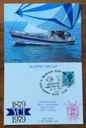 SPORT VELA  CENTENARIO  YACHT CLUB ITALIANO  SAN REMO 13/9/79  QUARTER TON CUP CARTOLINA ED ANNULLO SPECIALE - Vela