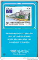 1999 - ITALIA (23)-  TESSERA FILATELICA 50 ° ANNIVERSARIO CONSIGLIO D´EUROPA - Cartes Philatéliques