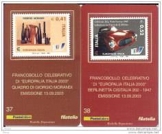 2003 - ITALIA (37-38) - TESSERA FILATELICA  EUROPALIA - Philatelic Cards