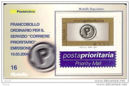 2004 - ITALIA (16) - TESSERA FILATELICA POSTA PRIORITARIA 1.50 - 6. 1946-.. Repubblica