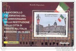 2004 - ITALIA (55) -  TESSERA FILATELICA CITTA´ DI TRIESTE - 6. 1946-.. Repubblica