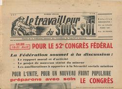 LE TRAVAILLEUR DU SOUS-SOL (1956) Numéro Spécial, Congrès CGT à Albi, Statut Du Mineur, Lens, Maison Repos Bournazel - 1950 - Today
