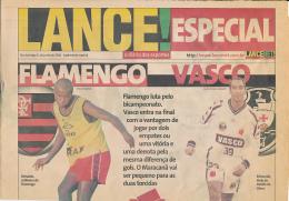 LANCE ! (2000) Journal Brésilien, Numéro Special Football, Match Flamengo-Vasco, Reinaldo, Edmundo, Pedrinho, Iranildo.. - Livres, BD, Revues