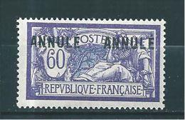 Type  Merson 60ct Violet Et Bleu  N°144 (surcht Annulé)  Neuf * - Cours D'Instruction