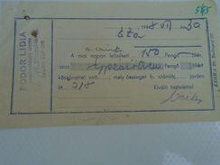 AD034.32  Hungary  Receipt  Fodor Lidia Clothes - 1948 Eta Szalon - Facturas & Documentos Mercantiles
