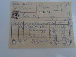 AD034.33  Hungary  Receipt  KOHN  Clothes - 1948 Eta Szalon Tax Stamp - Unclassified