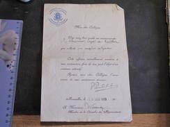 FROIDTHIER- Lettre De Recommandation De M WINANDY Relative à Un Emploi De Garde Pour CHAINEUX Léopold 29/128/19 - Manuscrits