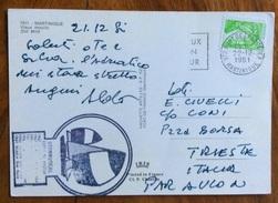 SPORT VELA  MARTINIQUE STORMVOGEL  LUXURY YACHT CHARTER. SU CARTOLINA  21/12/1981 - Vela
