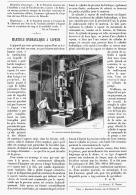 MARTEAU HYDRAULIQUE à VAPEUR  1904 - Non Classés