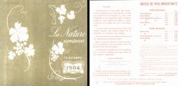 "BROCHURE VINS  "" GUSTAVE BOUYET "" VITICULTEUR à MARCILLAC   ( GIRONDE ) 1904 - Wine"