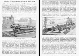 TIREFONNAGE Et BOURRAGE MECANIQUE DES VOIES De CHEMINS De FER   1904 - Ferrovie