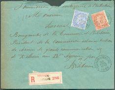Lettre Recommandée De DOLHAIN-LIMBOURG Affr. à 35 Centimes (Fines Barbes)  22 Avril 1899 Vers Bihain - 12092 - 1893-1800 Fijne Baard