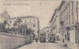 Italie - San Remo - Via Vittorio Emanuele - Tramway Chemin De Fer - 1919 - San Remo
