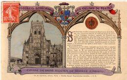 Collection Historique Des Eglises De France - Eglise De St Riquier Du Diocèse D' AMIENS  -  Rehaussée Or (98676) - Kirchen Und Klöster