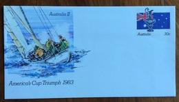SPORT VELA  AUSTRALIA II AMERICA'S CUP TRIUMPH 1983  BUSTA EMISSIONE SPECIALE - Pallavolo
