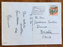 SPORT  CANOTAGGIO  ANNULLO SPECIALE RUDER WELTMEISTERSCHAFTEN ROTSEE LUZERN LUCERNA  1974 - Pallavolo