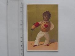 CHROMO Doré: ESCRIME - Epée Sabre Plastron Avec Coeur Tenue D'époque... - Autres