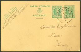E.P. Carte 5+30 Centimes HOUYOUX  Obl. Sc VOLLEZEELE 27-II-1928 Vers Meux - 12102 - Entiers Postaux