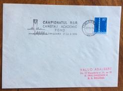 SPORT  CANOTTAGGIO  ROMANIA CAMPIONATUL R.S.R. CANOTAJ ACADEMIC FOND A TIMISCARA 21-23/10/1976 - Pallavolo