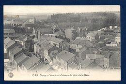 Ciney. Vue à Vol D'oiseau Du Côté De La Gare . Train En Gare. 1911 - Ciney
