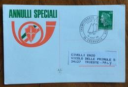 SPORT  VELA FRANCIA  CAMPIONATO EUROPEO 1969 CHAR A VOILE 35-CHERRUEIX 18/8/69  ANNULLO SPECIALE - Pallavolo